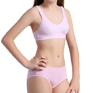 Jeteway Big Girl s Padded Bras and Matching Pants Sets Kids Training  Underwear Size 32 Pink  Amazon.co.uk  Clothing 477d54dcc