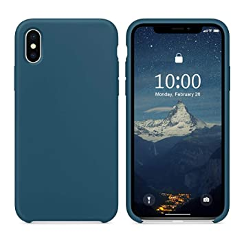 SURPHY Funda iPhone X/XS, Carcasa Ultra Slim Líquido de Silicona Suave Anti-Arañazos Protectora Gel Bumper Caso Cover Case para iPhone X/XS 5.8