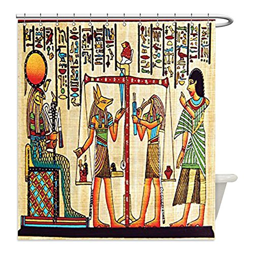 Make Ancient Egyptian Costume Boy (Liguo88 Custom Waterproof Bathroom Shower Curtain Polyester Egyptian Decor Collection Papyrus with Egyptian Ancient Manuscript History Picture Print Bedroom Living Kids Girls Boys Room Accessories I)