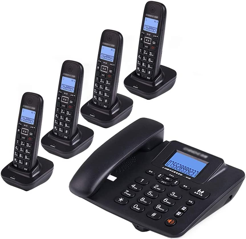 Uioy Teléfono, teléfono inalámbrico Digital, teléfono Fijo inalámbrico Inteligente Fijo (Color : Black, Style : 4): Amazon.es: Electrónica