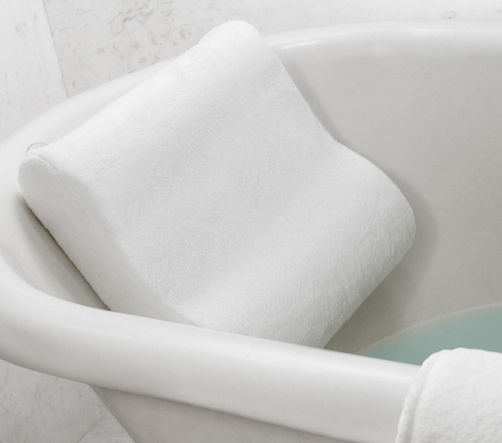 Amazon.com: Microdry Luxury Bath Pillow with Memory Foam, White ...