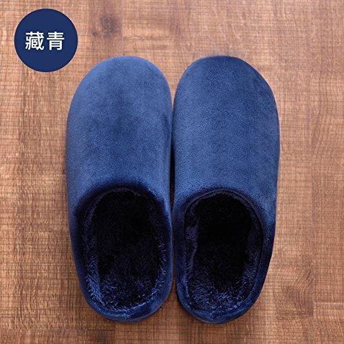 LaxBaFemmes Hommes chauds d'hiver Chaussons peluche antiglisse intérieur Cotton-Padded Chaussures Slipper convient pour la jeunesse tibétaine 43-44