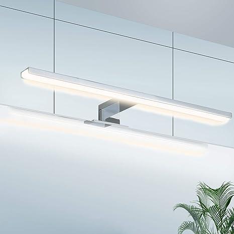 Lampe Miroir Luminaire Salle de Bain LED Wowatt Applique Miroir Salle de  Bain Etanche IP44 Eclairage 4000K Blanc Neutre Pour Maquillage Armoire ...