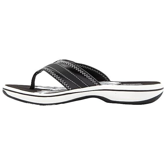 b62921f1ba137c Clarks Ladies Brinkley Mila Black Flip Flops Size 8  Amazon.co.uk  Shoes    Bags