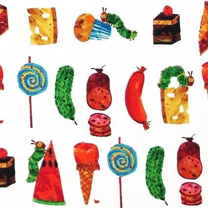 THE VERY HUNGRY CATERPILLAR...FOODS /& TREATS FABRIC