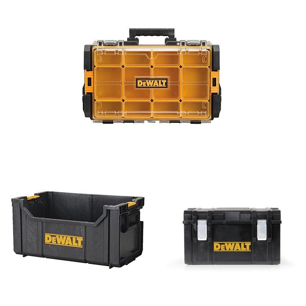Dewalt DWST08202 Tough System 100 Bucket Tool Organizer with Tough System Tote and Large Tough System Case