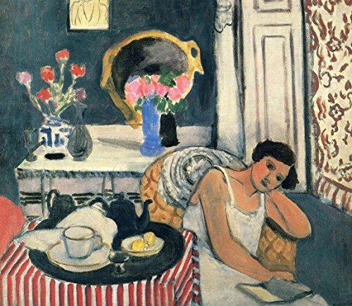 Woman Reading Matisse - Henri Matisse - Woman Reading, Size 24x28 inch, Poster Art Print Wall décor