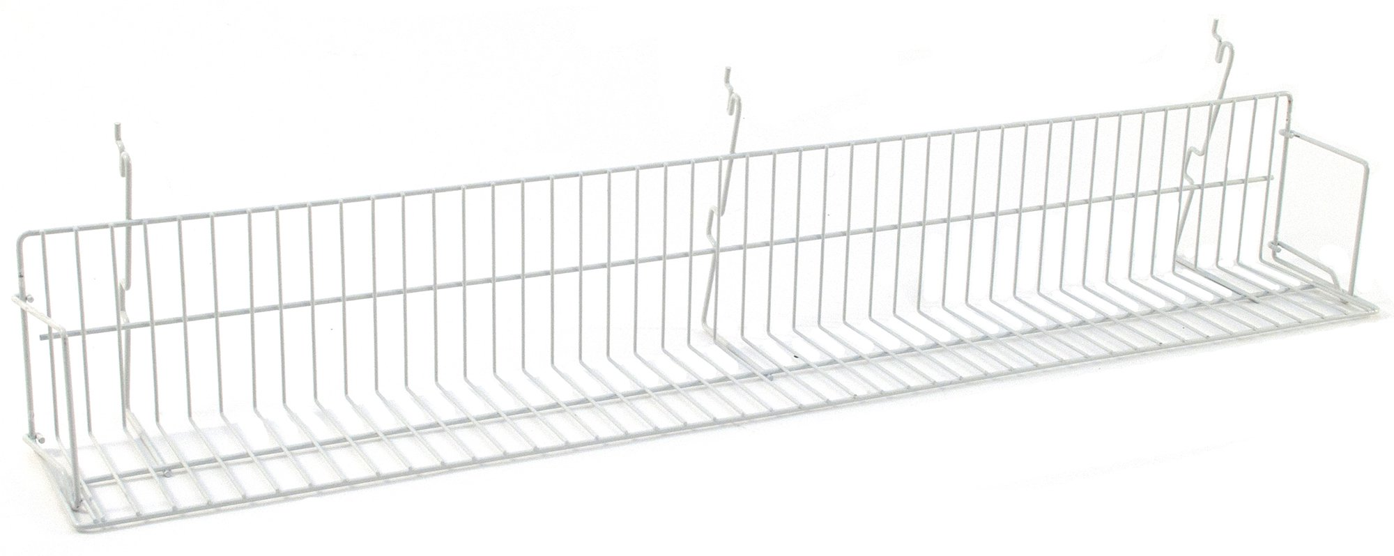 KC Store Fixtures A03053 Video Shelf Fits Slatwall, Grid, Pegboard, 46'' W, White (Pack of 5)