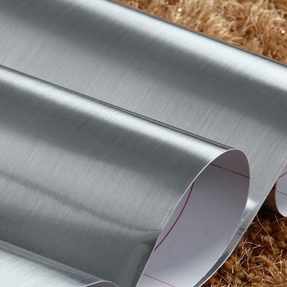 Papier de contact en vinyle argenté métallisé avec support en ...