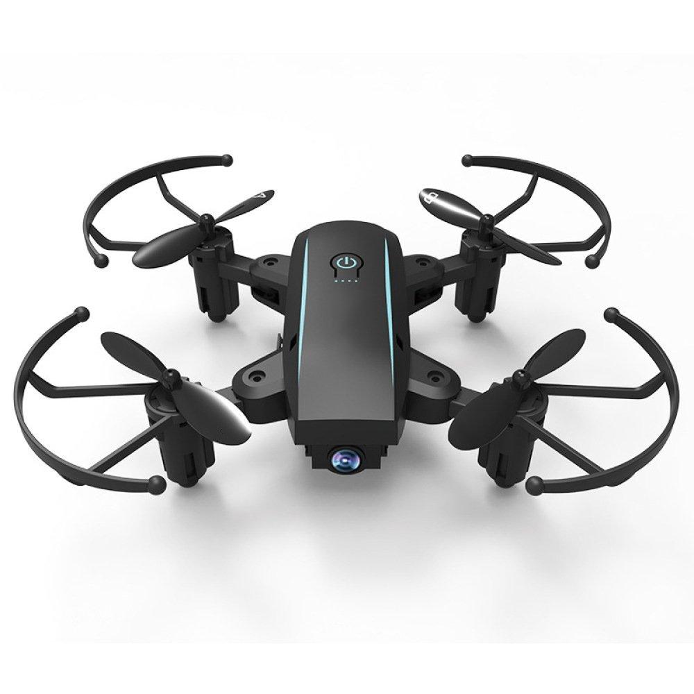 ZCXCC Faltbare Mini RC Dronhe Wifi Quadcopter mit HD Kamera 2 4 Ghz 6 Achsen Gyro 4CH Höhe Halten und Headless Modus Hubschrauber Drone (Schwarz)