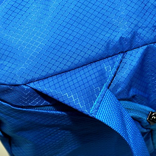 Foldable Travel Duffle Bag Outdoor Sports Water Resistant Nylon Nailon Negro, by LC Prime Azul
