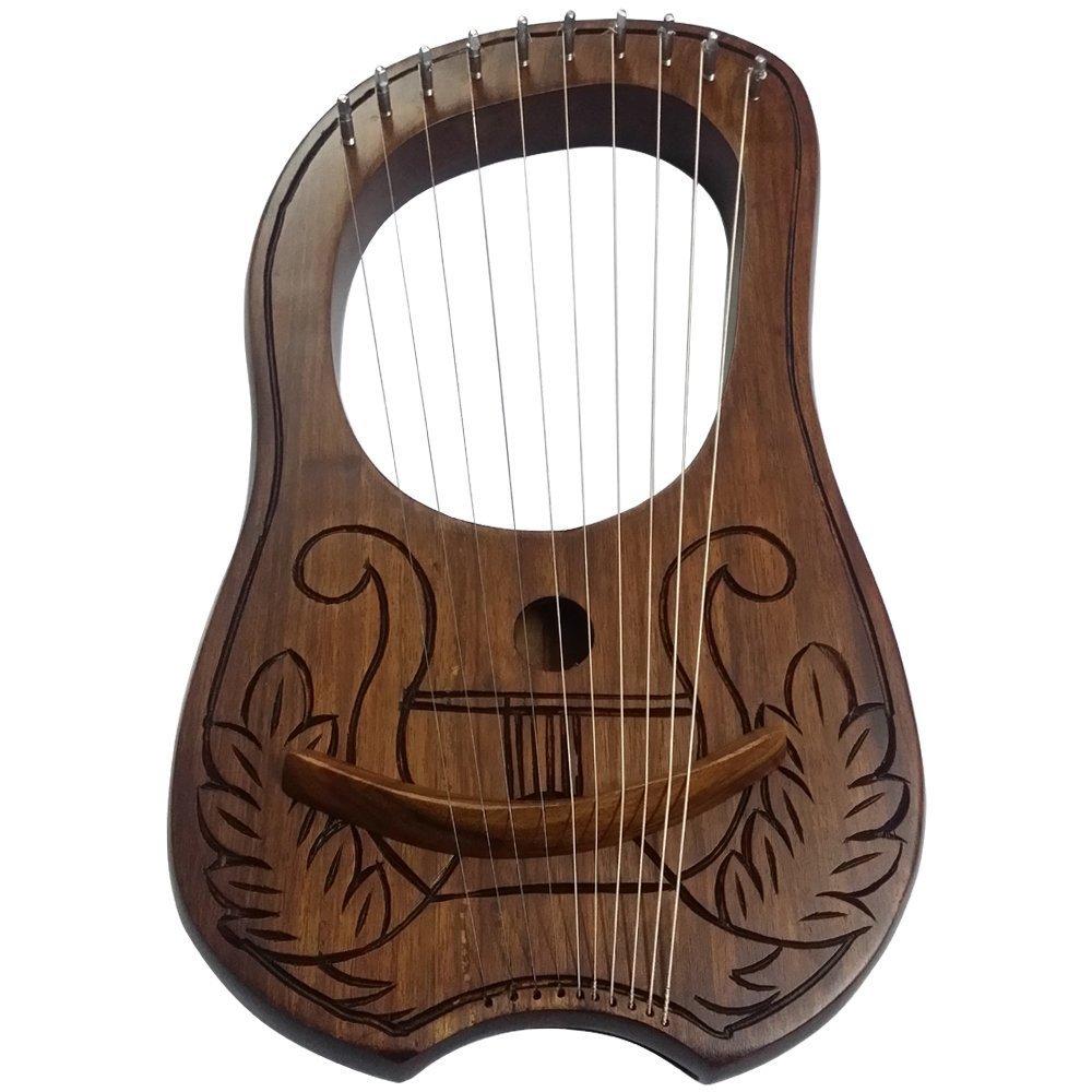Diseño de Arpa de LIRA (Arpa 10las picaduras de metal grabada/LIRA (Harfe/Lyra–Arpa House of Highland 77