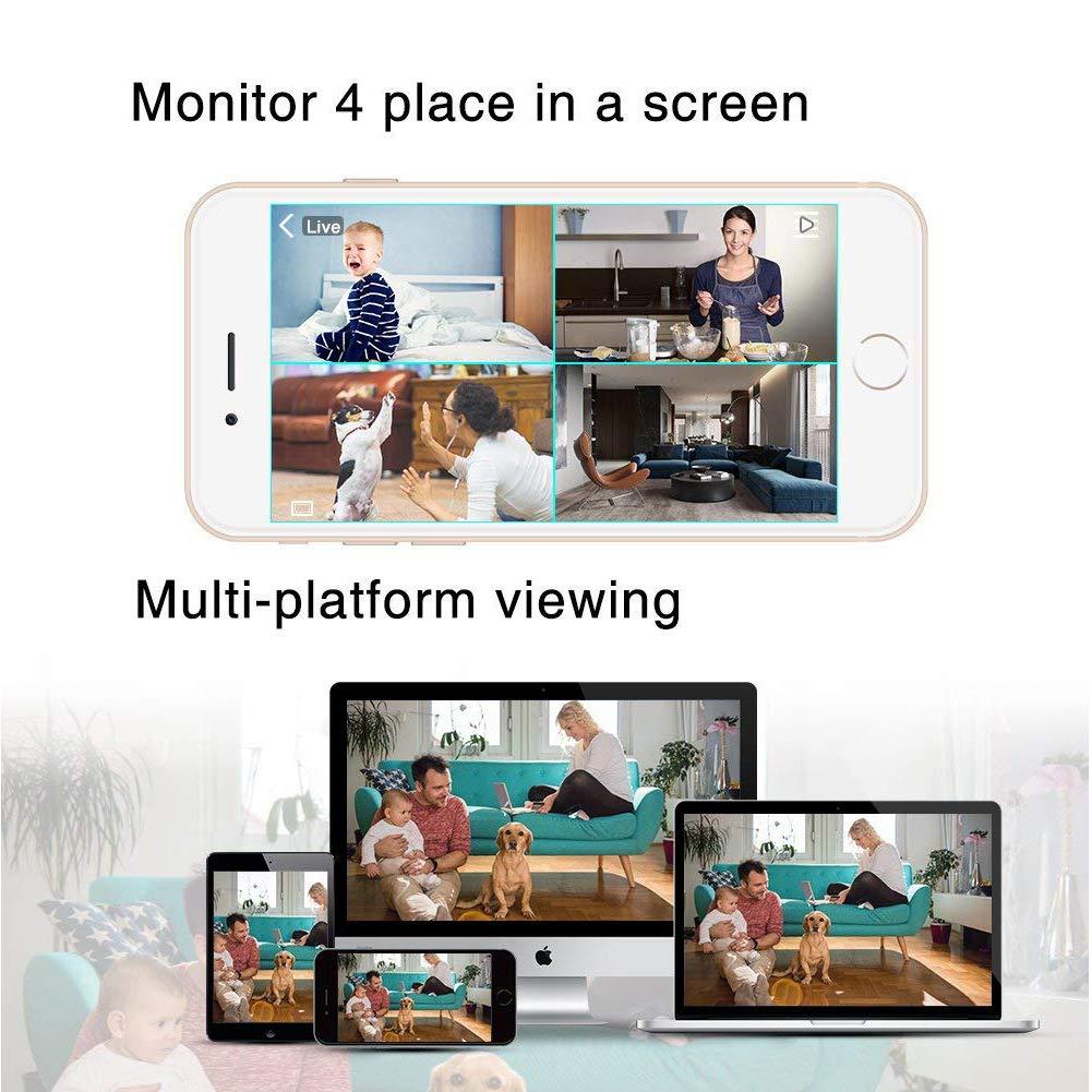 MoLiSmart La c/ámara IP inal/ámbrica Inteligente admite Full HD 1080P con visi/ón Nocturna y Control de detecci/ón de Movimiento Mediante la aplicaci/ón Danale