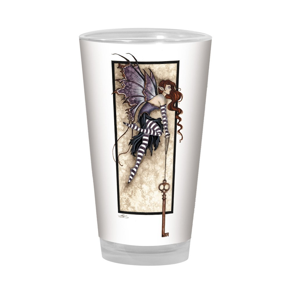 Tree-Free Greetings PG02603 Amy Brown Pint Glass, 16-Ounce, Fantasy Keys to The Realm Fairies Artful Alehouse