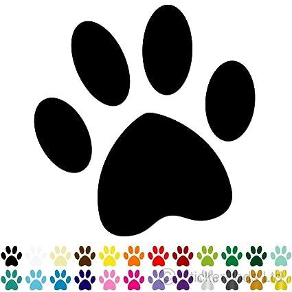 Stickumupuk - Adhesivo para coche, diseño de huellas de perro, 4 ...