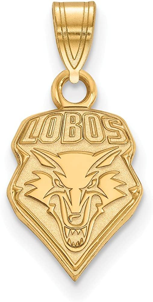 10k Yellow Gold University of New Mexico Lobos School Mascot Pendant
