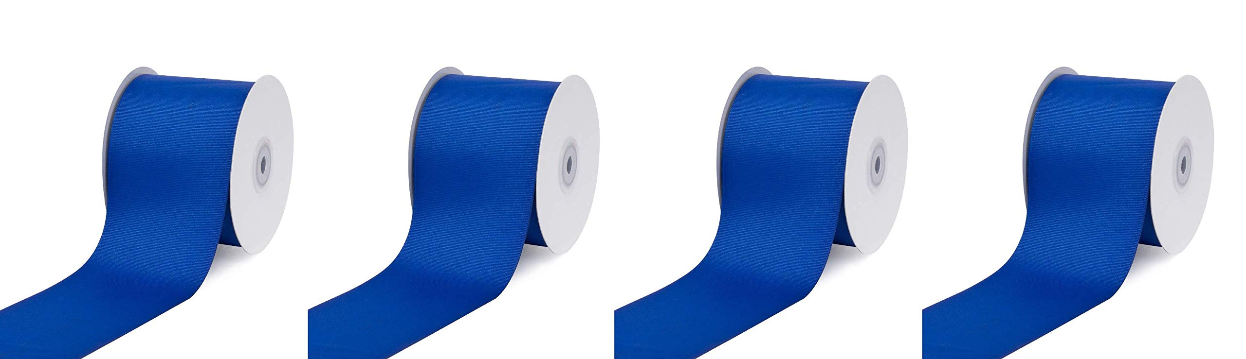 Creative Ideas 3'' Inch Solid Grosgrain Ribbon, 25 Yards, Royal Blue, 25 yd (Fоur Paсk)
