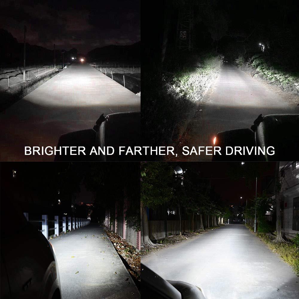 HILLSKING LED Light Bar 84W 2pcs 5inch Driving Light LED Pods Spot Beam Fog Light Offroad Super Bright LED Strip Light for Truck Jeep ATV SUV UTV Boat 2 Years Warranty