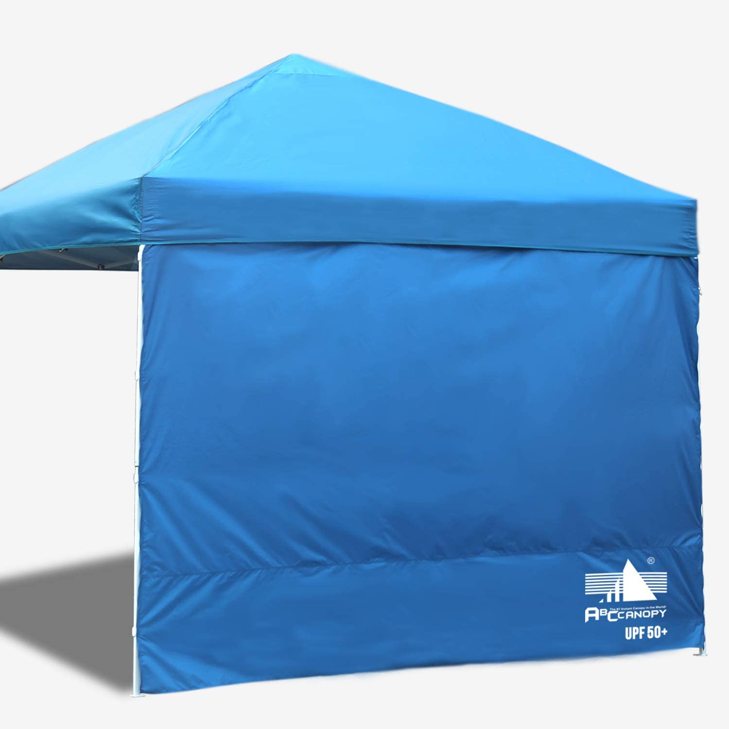 ABCCANOPY 15 Colors 10 Sun Wall for 10 x 10 Straight Leg pop up Canopy, 10 Sidewall kit 1 Panel with Truss Straps, Sunshield Wall Blue