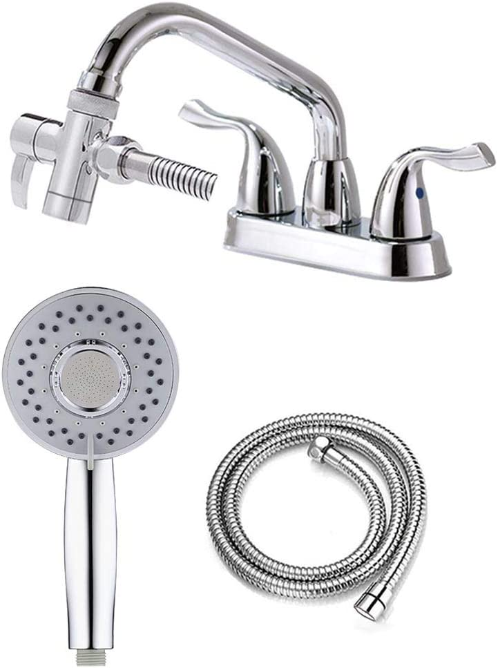 ZCONIEY Sink Sprayer Set Hair Dog Pet Shower Spray Hose Bath Tub Sink Faucet Attachment Quick Connect on Tub Spout