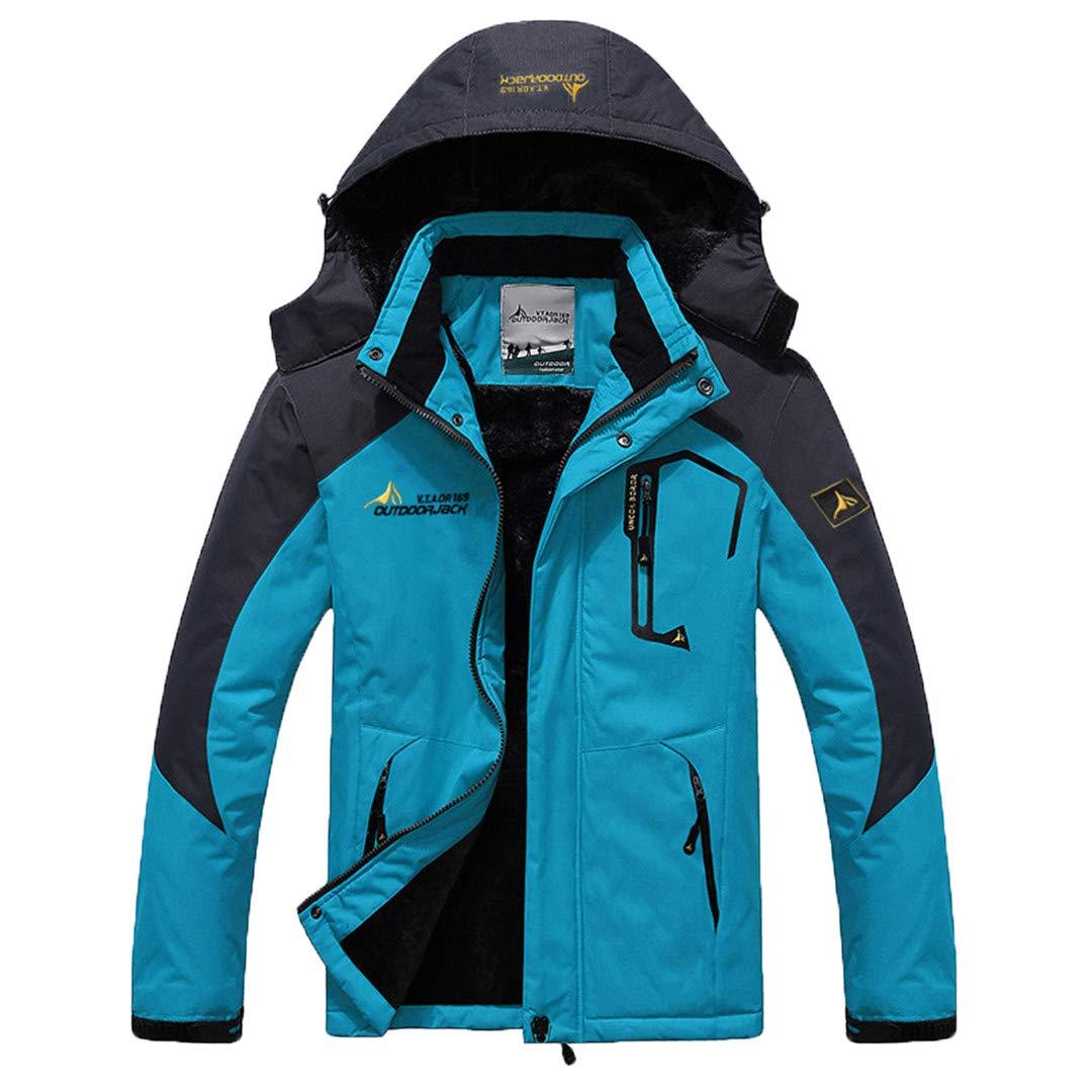 Jackenstr Mann-Winter-Outdoor Fleece Starke mit Kapuze Winddichtes Thermal Wärme Ski Snowboard Bekleidung