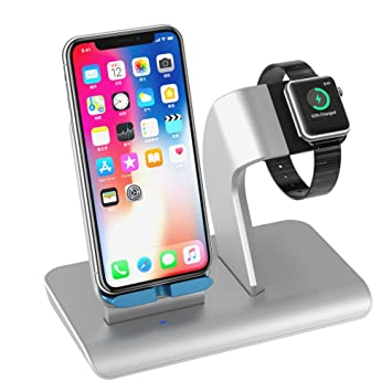 Upwade Smart Watch Stand,Smart Phone Carga Dock Soporte Cargador Inalámbrico con Soporte del Reloj Apple Estación de Carga del para Smart Watch Smart ...