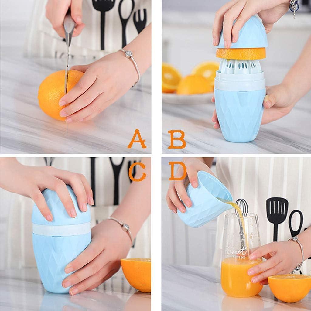 Rameng Presse-Agrumes Outil Menage Manuel Juicer Jus de Citron Orange Presse-Fruits Presse Tasse Rose