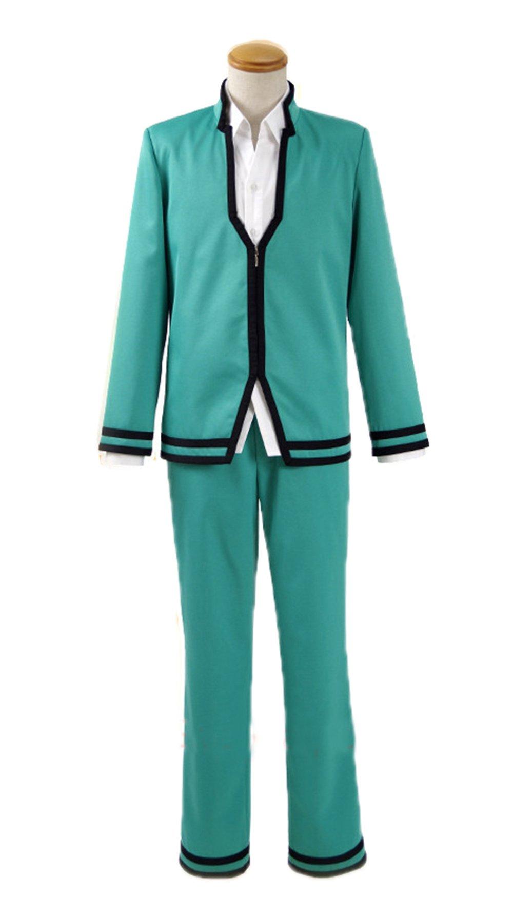 Nuoqi Saiki Kusuo no Psi Nan Cosplay Costume Mens Anime Upgrade Student Suit Full Set Blue