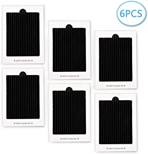 SEISSO 6 Pack Carbon Activated Refrigerator Air Filter Replacement, Refrigerator Pure Air Filters Replacement Compatible