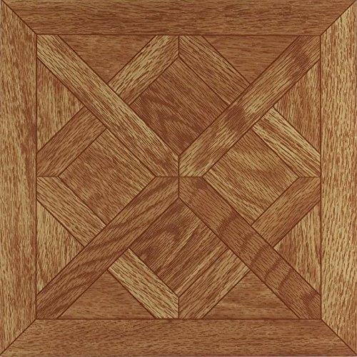 Achim Home Furnishings FTVWD20120 Nexus 12-Inch Vinyl Tile, Wood Classic Parquet Oak, ()