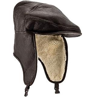 725a4e25694 Eastern Counties Leather Mens Harrison Aviator Sheepskin Hat  Amazon ...