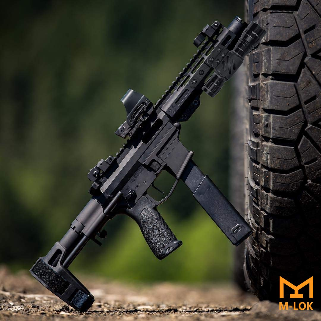 Feyachi FL14 Mlok Flashlight 1200 Lumen Tactical Flashlight with M-Lok Rail Mount for Outdoor Hunting Shooting - Rechargeable 18650 Batteries and Pressure Switch Included by Feyachi (Image #8)