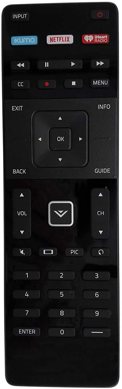 New Vizio XRT122 Remote Control with XUMO Netflix IheartRadio Key for Smart TV