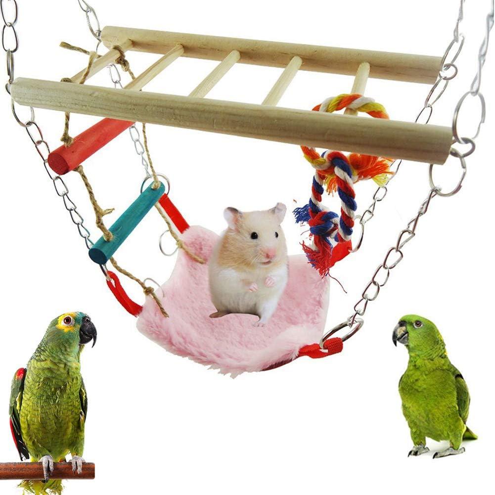 Whiie891203 Juguete para Loros de pájaros, hámster para Mascotas, Hamaca, Puente, Escalera, Cama, Jaula, Juguete para Escalada para periquitos, cacatúas, conuras, macayos, Loros, Random Color: Amazon.es: Hogar