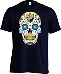 America s Finest Apparel Los Angeles Football LAC Sugar Skull Shirt - Men s 56ab35504