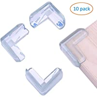 YOUBAMI 10 Pack Corner Protector, Clear Corner Guards for Baby Safety Proofing, Strong Adhesion, Soft, Protect Children from Furniture & Sharp Corners
