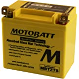 12 Volt 6.7 Ah MotoBatt MBTZ7S Sealed Maintenance Free AGM Battery