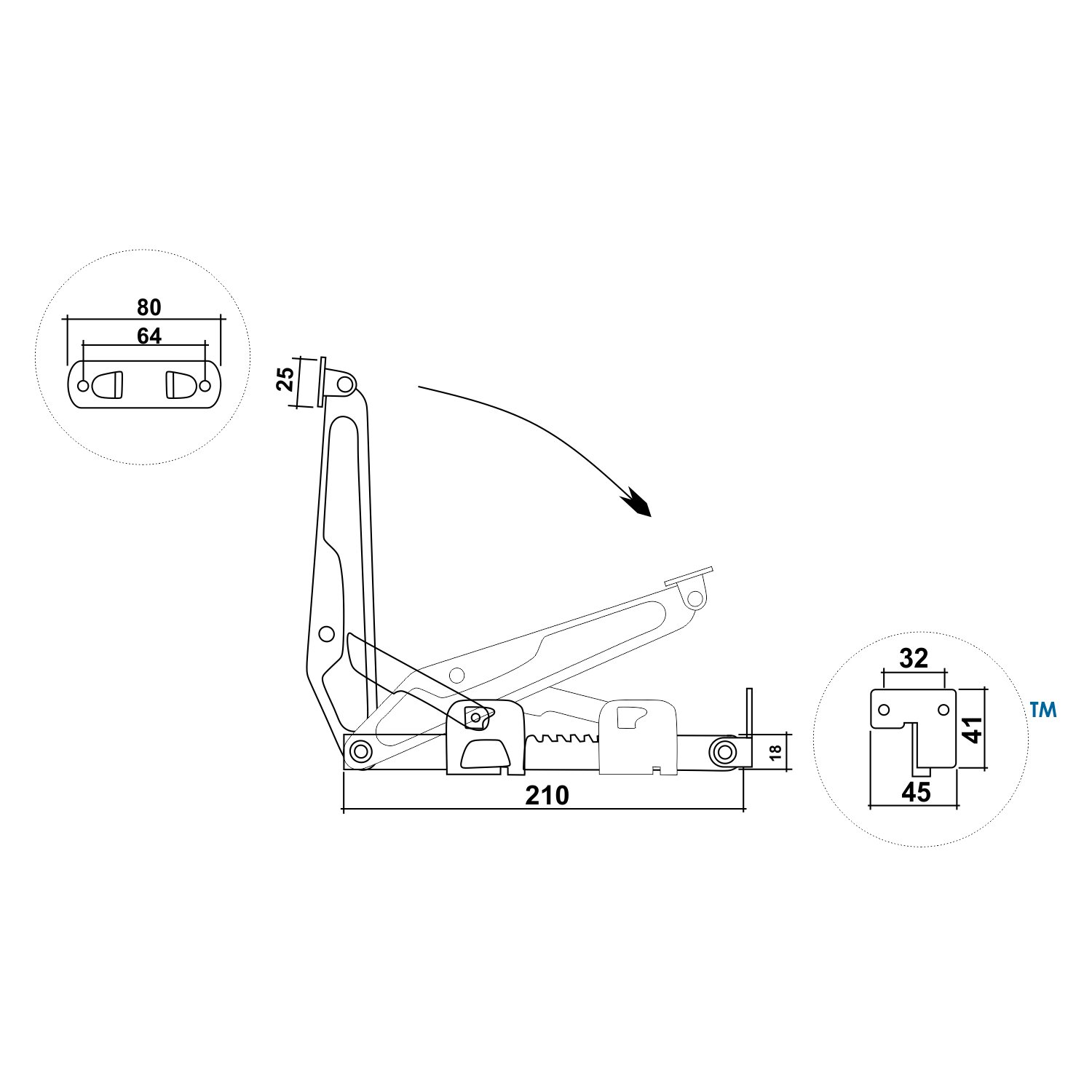 61DHDcTa76L._SL1500_ rok hardware ratchet headrest fitting for beds, desk lids Basic Electrical Wiring Diagrams at bakdesigns.co