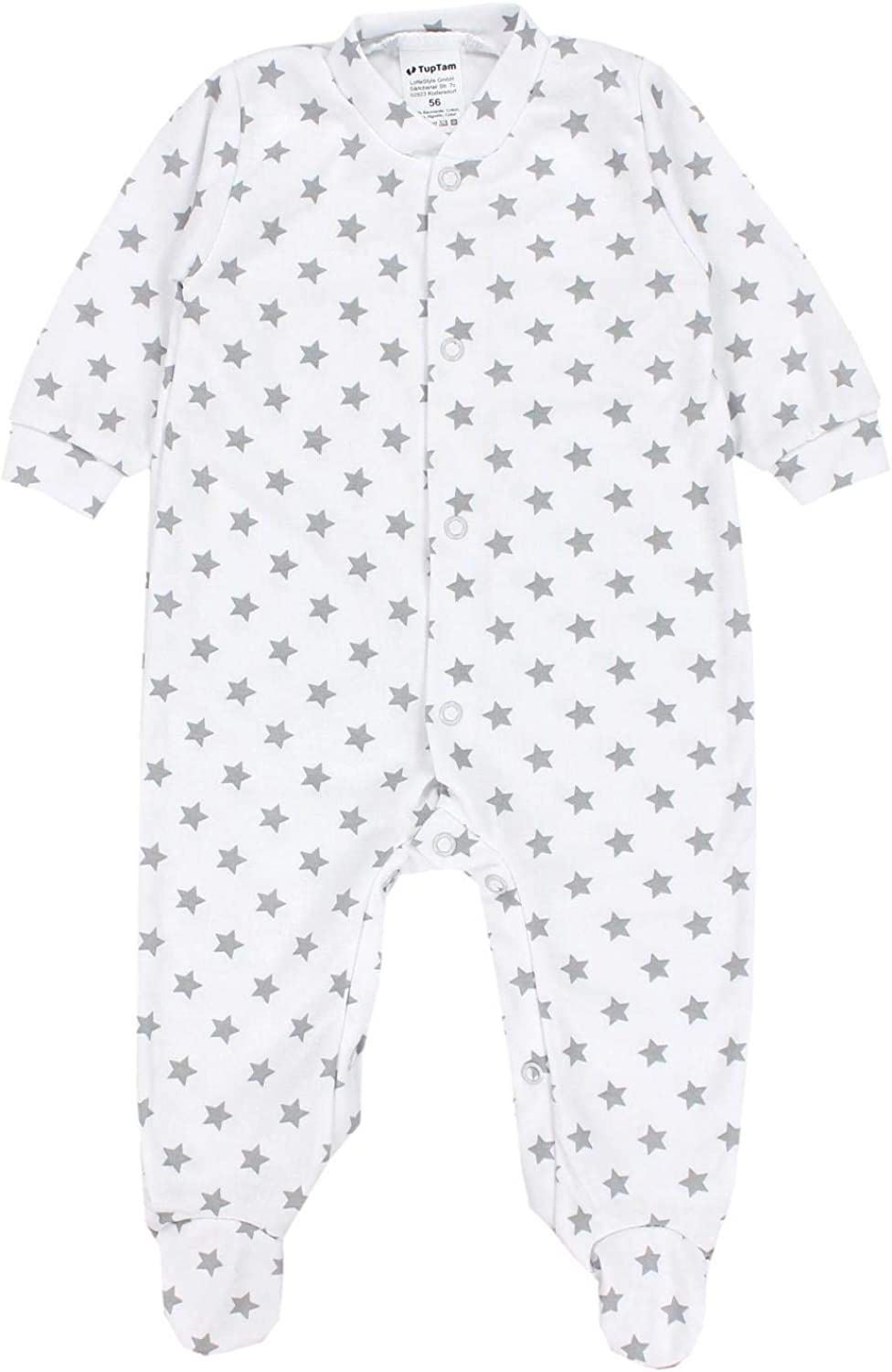 Pack of 3 TupTam Baby Girls Sleepsuits with Feet