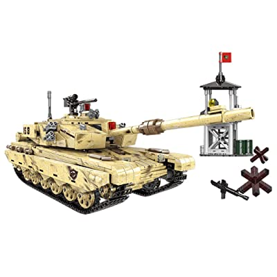 JRhong Simulación de Autos 1340 Piezas Bloques de Construcción Juguetes Modelismo para Combate Militar, Vehículo Militar Conjunto: Juguetes y juegos