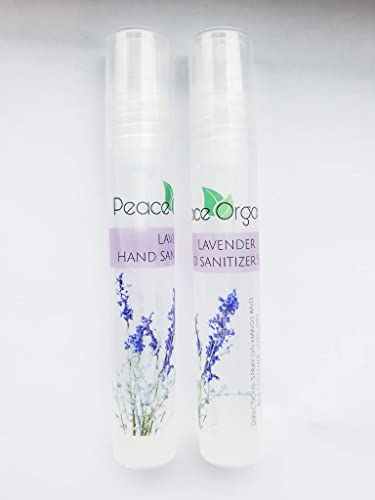 Amazon Com Hand Sanitizer Spray 2 Pack Travel Size Lavender