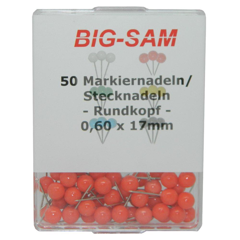 Rot BIG-SAM 30014-50 Markiernadeln