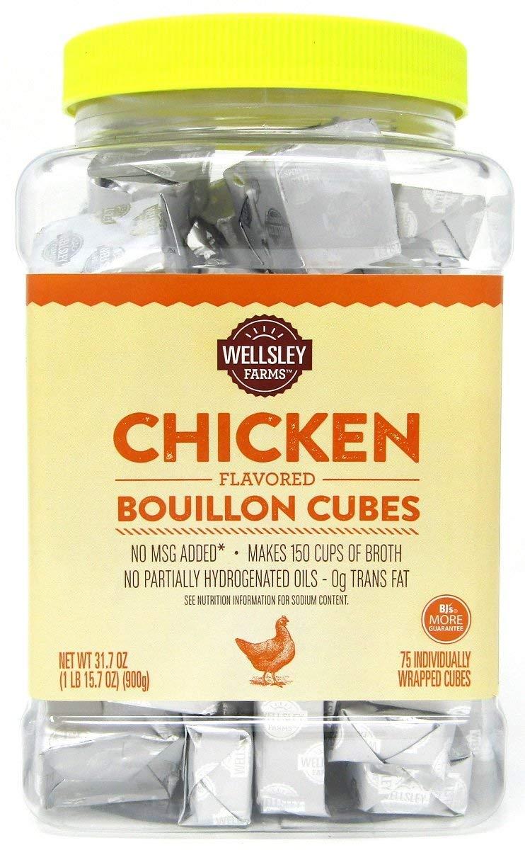 Wellsley Farms Chicken Flavored Bouillon Cubes (Formerly Berkley & Jensen) - 75 Count