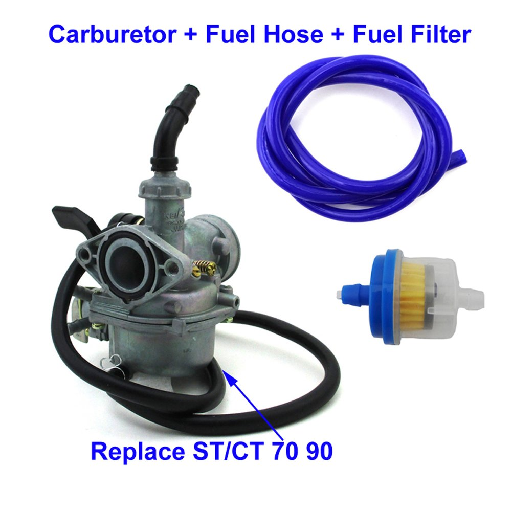 Tc Motor 19mm Carb Pz19 Carburetor Right Side Chock 1970 Honda Ct70 Blue Lever Fuel Hose Filter For St70 Ct90 St90 Ct St 70 90 Trail Bike