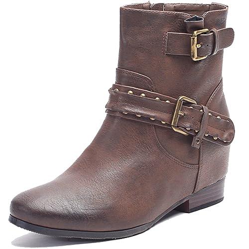 Alexis Leroy - Botines Chelsea de tacón de Cuero con Cremallera para Mujer Marrón 40 EU / 7 UK: Amazon.es: Zapatos y complementos