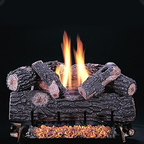 Rasmussen 24 Inch Chillbuster Gas Log Set With Vent Free Natural Gas Chillbuster Dual Burner - Manual Safety Pilot (Rasmussen Log Set)