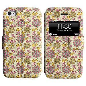 LEOCASE corazón lindo Funda Carcasa Cuero Tapa Case Para Apple iPhone 4 / 4S No.1004072