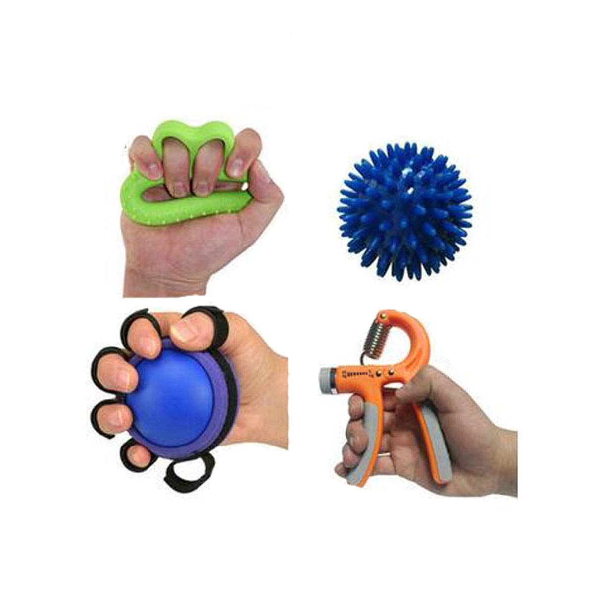 Jiansheng Hand Grip, Silicone Professional Exercise Hand Equipment Female Practice Finger Grip Strength Rehabilitation Training Hand Force Training Device, (4 / Box) (Color : Color B)