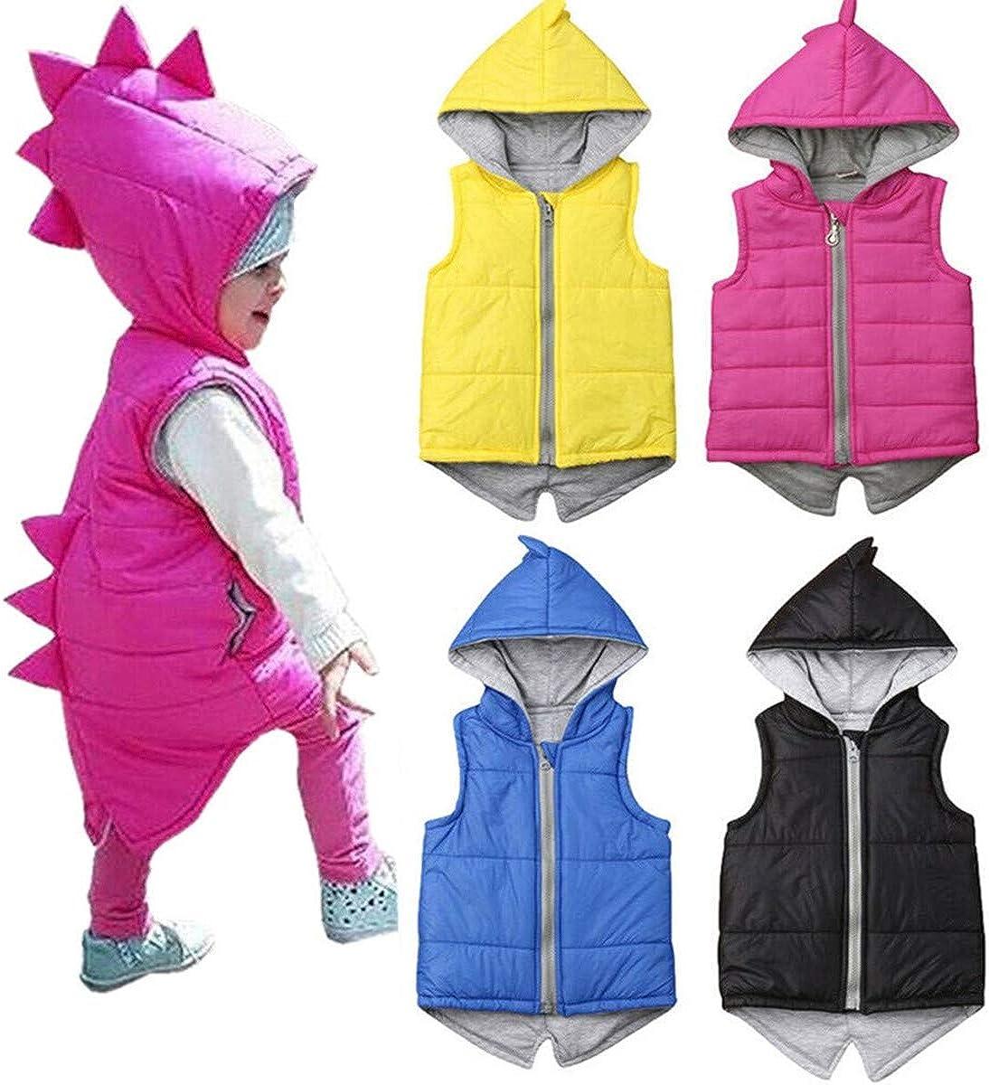 Digirlsor Baby Toddler Boys Girls Outerwear Winter Vests Kids Stand Collar Corduroy Warm Sleeveless Jacket Waistcoat,1-8Y