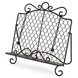 Epic Products Chicken Wire Cookbook Stand, Multicolor